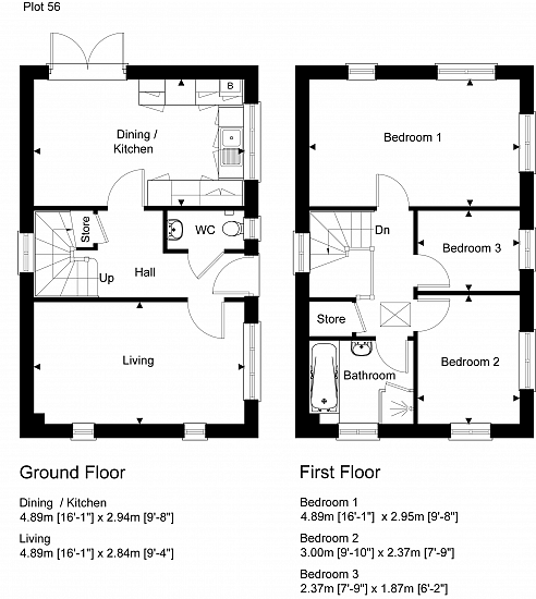 Detached plot floorplan layout. Artists impression for illustration purposes only. Subject to change.
